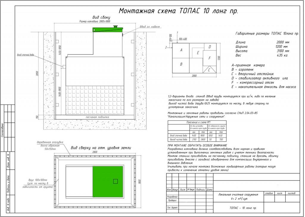 Монтажная схема Топас 10 Long Пр