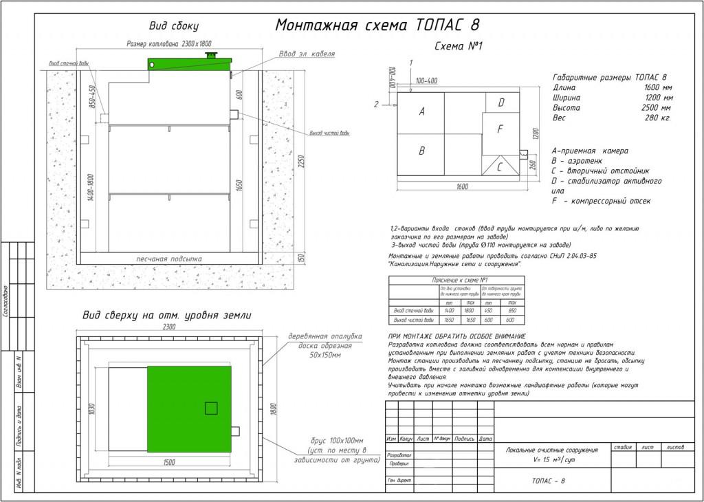 Монтажная схема Топас 8