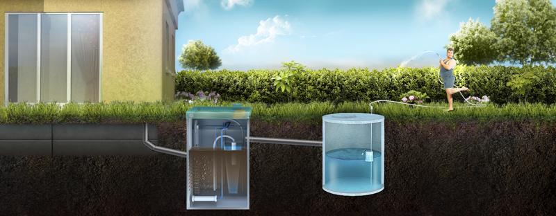 Otvod ochishhennoj vody v nakopitel'nyj rezervuar